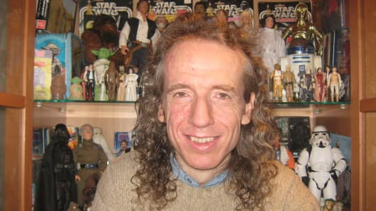 Star Wars action figure collector Craig Stevens